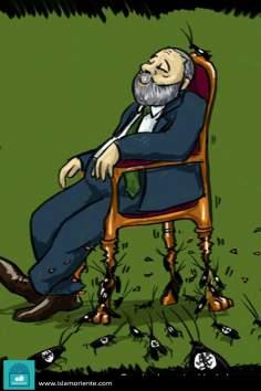 Caricatura - A caída do sionismo