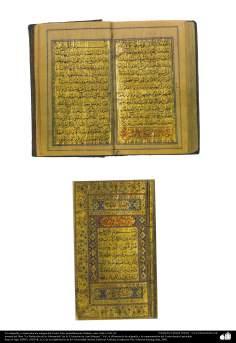 Arte islamica-Tazhib(Indoratura) persiana,Calligrafia antica e ornamenti del Corano,Isfahan(Iran)-1668-1691