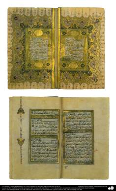 Ancient calligraphy and ornamentation (Tazhib) of the Qoran , Istanbul and around, In the middle of the eighteenth century AD. (211)