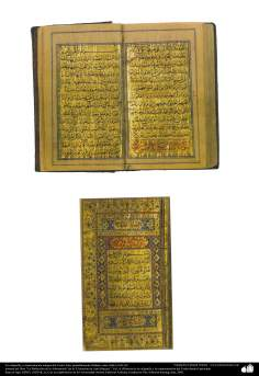 Antique editions (style Tazhib) - Calligraphy and Ornamentation of the Holy Quran  -Isfahan- probably between 1668-1691
