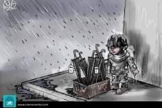 Sfruttamento dei bambini (Caricatura)