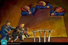 Caricatura - A justiça é surda