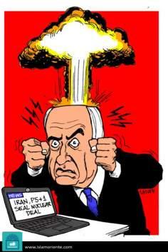Безумие Нетаньяху (карикатура)
