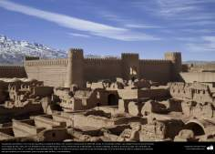 pre-Islamic Architecture - The largest adobe building in the world - A view of Arg-e Bam (Bam Citadel) - 45