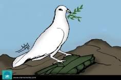 La paloma de la paz (caricatura)