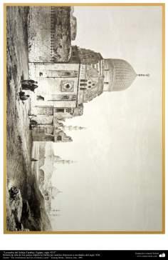 Pintura de arte de los países islámicos- La tumba del Sultán Tarabey, Egipto, siglo XVI