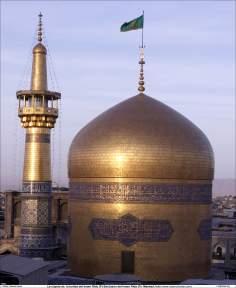 A cúpula sobre o mausoléu do Imam Rida (AS) - Cidade Santa de Mashad, Irã