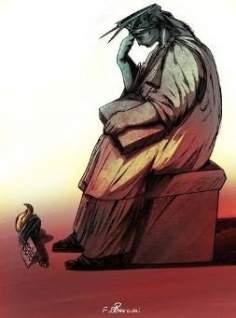 La crisis financiera del Gobierno federal de EE.UU. (caricatura)