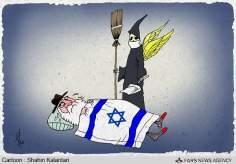 Der Tod des religiösen, extremistischen und rassistischen Anführers der Zionistischen Regime (Karikatur) - Bilder