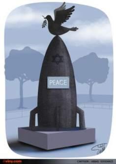 La paz al estilo Israelí (caricatura)