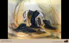 イスラム美術(マフムード・ファルシチアン画家によるミニチュア傑作 - 「アーシュラの昼間」