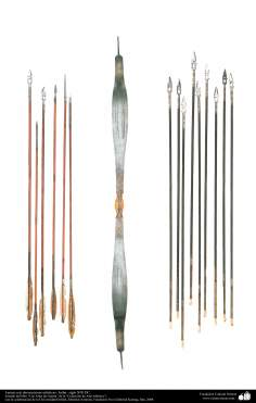 Les anciens instruments décoratifs de la guerre - la lance avec des motifs -Inde - XIXe siècle-2