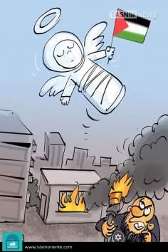 Число жертв Израиля (карикатура)