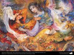 Liberación.( detalle).1996 , Obras maestras de la miniatura persa; Artista Profesor Mahmud Farshchian, Irán