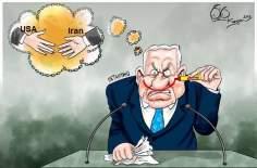 Caricatura: Línea roja de Netanyahu en el discurso de la ONU sobre Irán
