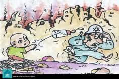 Борьба детей в Палестине (карикатура)