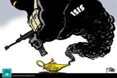 کارٹون - داعش اور دہشتگردوں کی جڑ سعودی عرب ملک