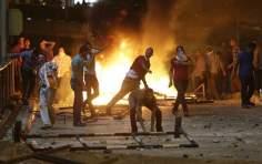 Les manifestants en Egypte