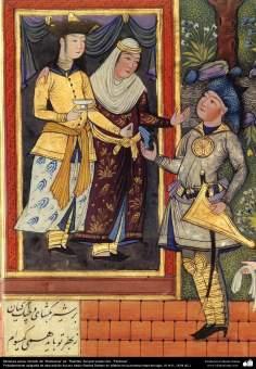 Miniature persane // Source: ''Shâh Nâmeh'' (Livre des rois), magnifique ouvrage composé par le grand poète perse  Ferdowsi, éd. Rashida