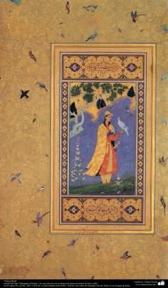 """Arte islamica-Capolavoro di miniatura persiana,""""Faruj Beik"""""""