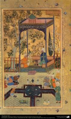 """Miniatura """"Encuentro de Asif""""  del libro """"Muraqqa-e Golshan""""- siglos IX a XI HL. (XIV a XVI dC.) (3)"""