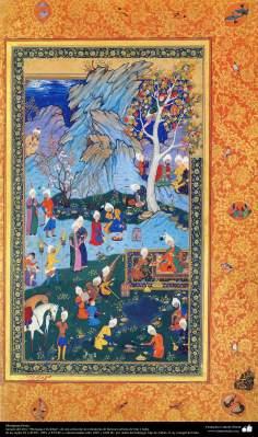 """Miniatura Persa - miniatura do livro """"Muraqqa-e Golshan"""" - 1605 e 1628 d.C - 2"""