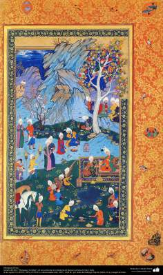 "Miniature persane (II) - Réservez Miniature ""Muraqqa-e Golshan"" - 1605 et 1628 AD."