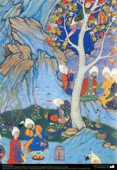 """Miniatura Persa - miniatura do livro """"Muraqqa-e Golshan"""" - 1605 e 1628 d.C - 1"""