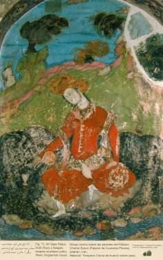 Miniatur im Wandgemälde vom Chehel Sotun (Palast der vierzig Säulen) in Isfahan, Iran - 4 - Islamische Kunst - Persische Miniatur