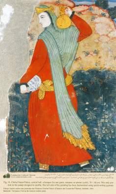 Miniatura em mural do Chehel Sotum (Palácio dos quarenta pilares) da cidade de Isfahan, Irã - 31