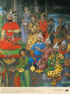 ミニチュア - 壁画(イスファハンにおけるチェヘル ソトゥーン宮殿(40柱宮殿)-12