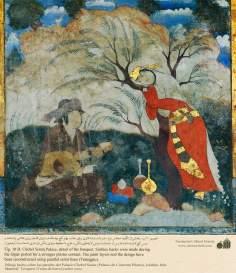 ミニチュア - 壁画(イスファハンにおけるチェヘル ソトゥーン宮殿(40柱宮殿)-17