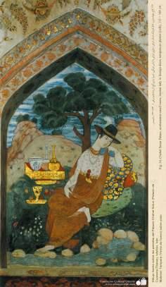 Miniatur der Wandmalerei vom Chehel Sotun (Palast der vierzig Säulen) in Isfahan, Iran - 8 - Miniatur der Wandmalerei - Bilder
