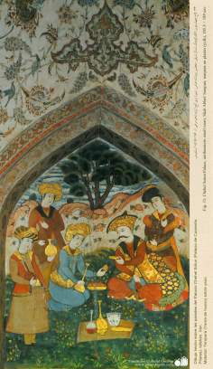 Miniatura em mural do Chehel Sotum (Palácio dos quarenta pilares) da cidade de Isfahan, Irã - 30