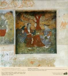 ミニチュア - 壁画(イスファハンにおけるチェヘル ソトゥーン宮殿(40柱宮殿)-55
