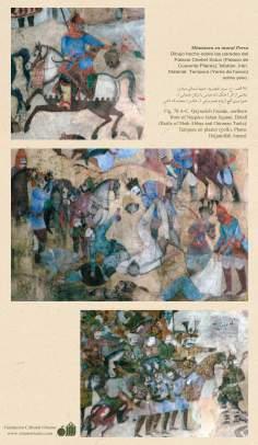 Miniature on Persian Mural - Chehel Sutun (Palace of the 40 pilllars in Isafahan) - 22