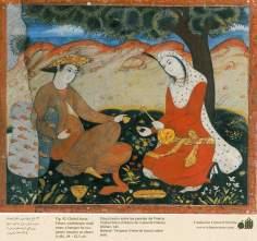 Miniature on Persian Mural - Chehel Sutun (Palace of the 40 pilllars in Isafahan) - 10
