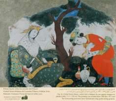 ミニチュア - 壁画(イスファハンにおけるチェヘル ソトゥーン宮殿(40柱宮殿)-4