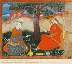 Miniatura en mural persa de Chehel Sotun (palacio de los Cuarenta Pilares) de Isfahán - 50