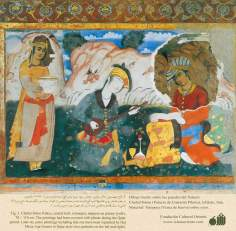 Miniatura en mural persa de Chehel Sotun (palacio de los Cuarenta Pilares) de Isfahán - 13