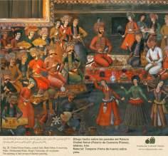 Miniatura en mural persa de Chehel Sotun (palacio de los Cuarenta Pilares) de Isfahán, Irán - 32