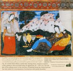 Miniature on Persian Mural - Chehel Sutun (Palace of the 40 pilllars in Isafahan) - 90