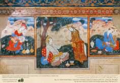 Persique murale miniature de Chehel Sotun (Quarante Piliers Palace) Isfahan - 8