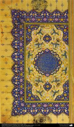 """Miniatura persa- hecho en el siglo 16 dC. del libro """"Khamse"""" o """"Panj Ganj"""" -Cinco Tesoro-, del poeta """"Nezami Ganjavi"""" - 20"""