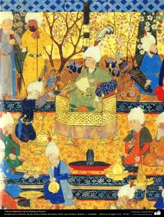 "Persian Miniature -taken from the works of the Great Poet ""Sa'di"", ""Bustan"" and  ""Golestan"" - made in 16th century  (17)"