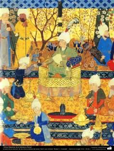"""Miniatura persa- tomado de la colección de las obras poéticas del poeta """"Sa'di"""", """"Bustan"""" y """"Golestan"""" - hecho en el siglo 16 dC (17)"""