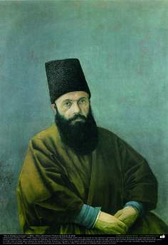 """Mirza Hedaiat, the treasure man"" (1886) - Oil on Canvas; Painting by Kamal ol-Molk"