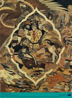 Death from Rostam (2) - Taracea (Marquetry) Persian.