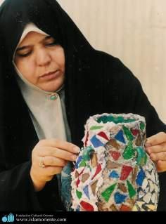 Muslim Woman and Handicrafts