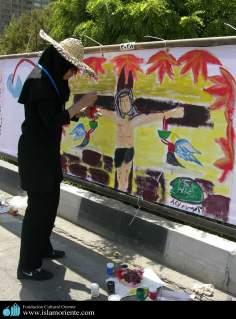 Activités artisanales des femmes musulmanes - Peinture murale d'une femme musulmane